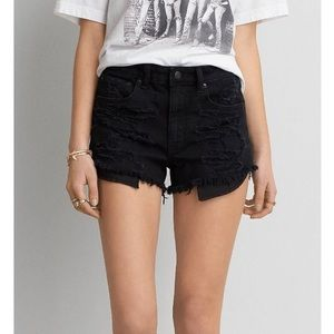 American Eagle Vintage High Rise Distressed Shorts
